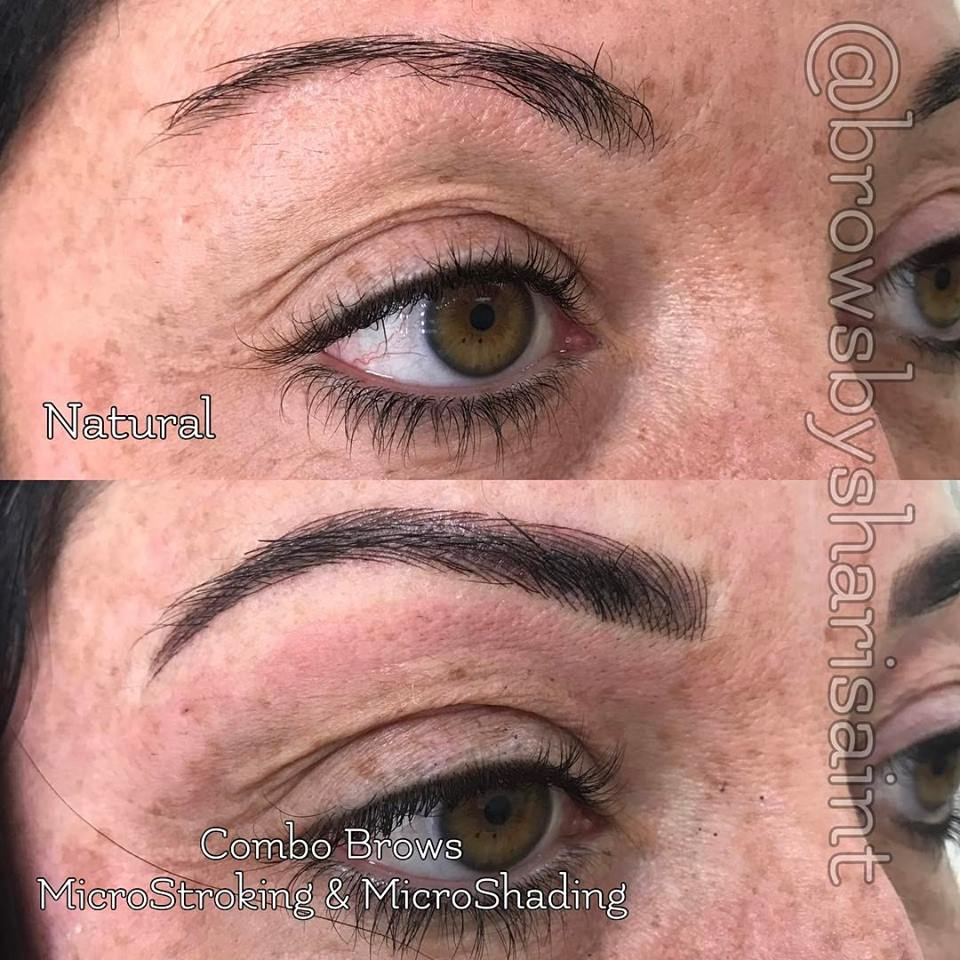 Filling in the brow to create dimension